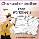 Characterization Worksheets - TeachersPayTeachers