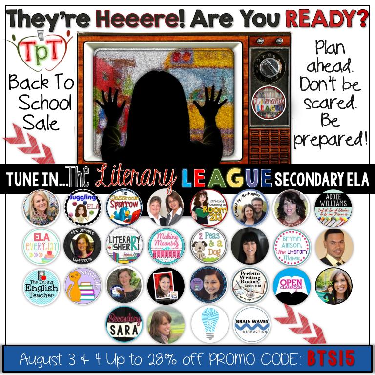 Literary League TeachersPayTeachers sale