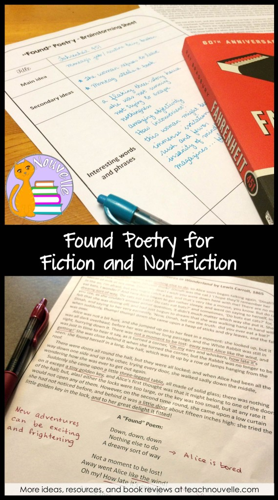 Looking for ways to get your students to dig deeper into fiction and non-fiction? Try Found Poetry and get them to examine texts with a new lens.