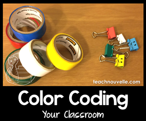 Simplify your back to school routines with color coding. This classroom management strategy will help you and your students stay organized throughout the school year. Check out more tips and resources at teachnouvelle.com.