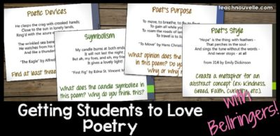 Expose your secondary students to a wide range of classic poetry using these engaging bellringers! Students create and analyze, finding fun and meaning in each of these thirty class poems.
