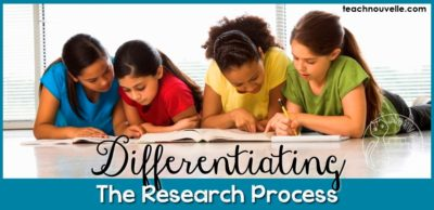 Differentiating the Research Process for all learners is important, especially in ELA. Here are some ideas for creating engaging and accessible research opportunities. More at teachnouvelle.com. Blog post.
