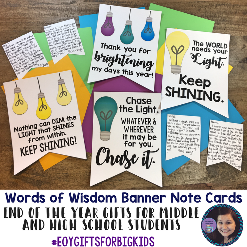 Quotes For Middle School Students: Student Gifts: Free End Of Year Printables For Big Kids