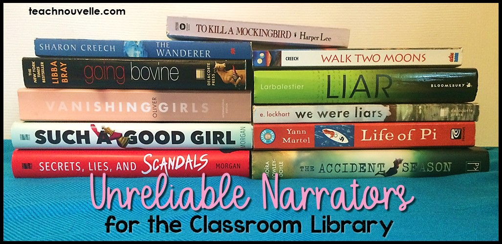 Books with unreliable narrators are great additions to your classroom library. It's easy to find rich examples of unreliable narrators in YA Lit, and here are some tips for discussing these characters with middle school and high school students. (blog post)