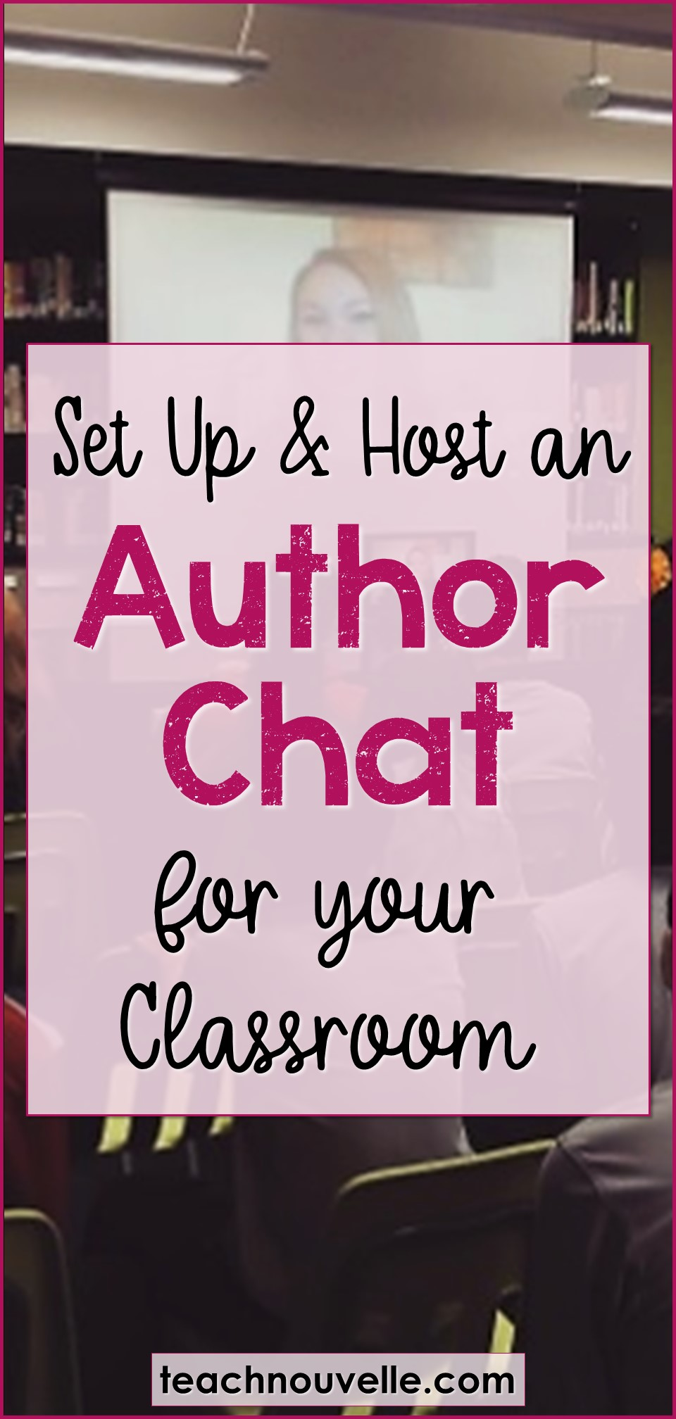 Do you want to host a classroom author chat? It's a great way to get your students invested in reading and writing. They can see the real-world person behind the work, learn about an author's craft, and ask their most pressing questions as a reader. (Read more at the blog)
