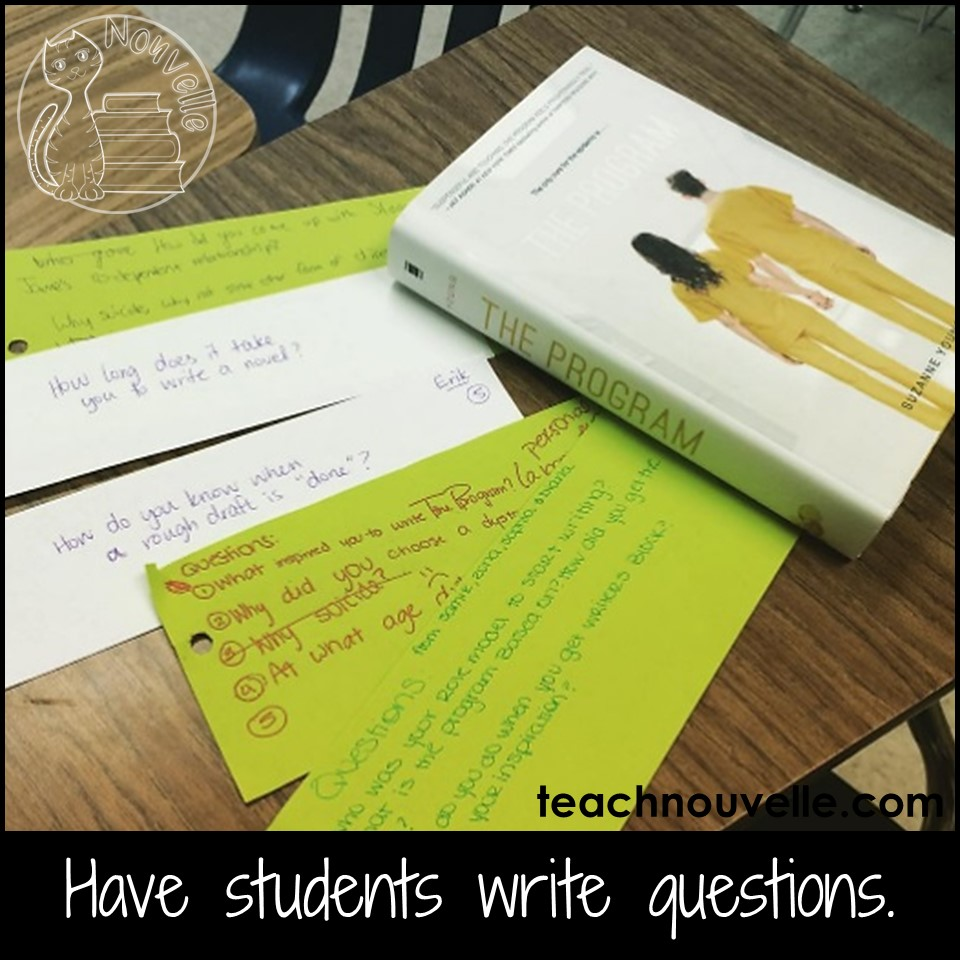 Setting up a classroom Author Chat is a great way to get your students invested in reading and writing. They can see the real-world person behind the work, learn about an author's craft, and ask their most pressing questions as a reader. (Read more at the blog)