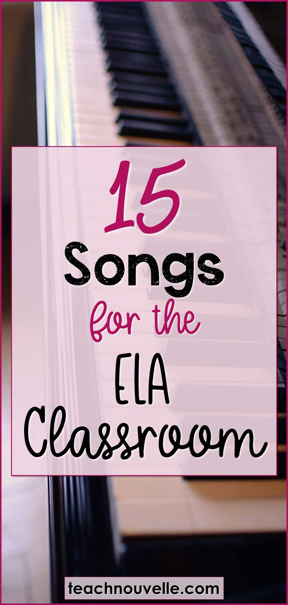 Using music in the secondary classroom is a great way to engage students, so here are some songs to use in ELA, and some ways to use them. (Blog post)