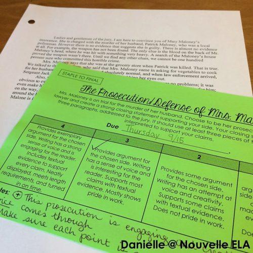 Lamb to the Slaughter Essay by Nouvelle ELA at TeachersPayTeachers.com.