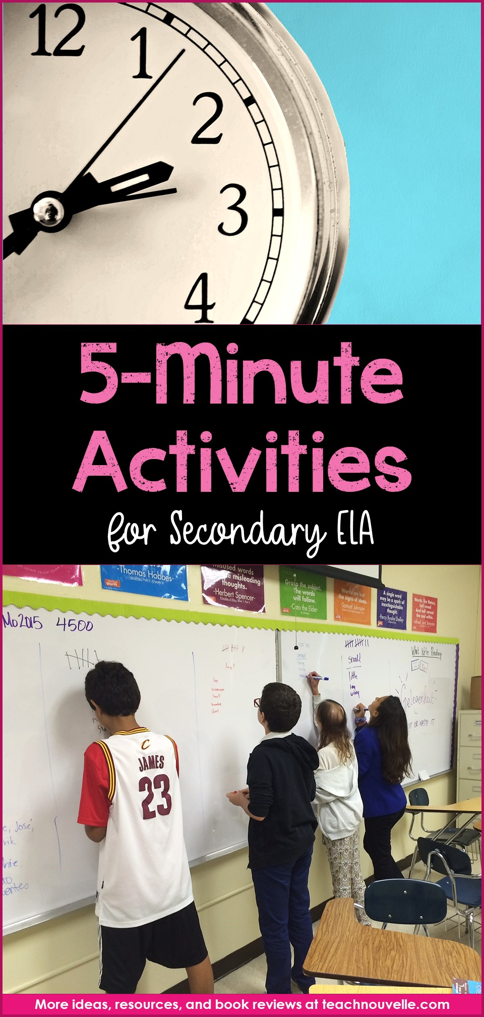 What can you do with five extra minutes in secondary ELA? Here are a few five-minute fillers for keeping your students focused until the bell. (blog post)