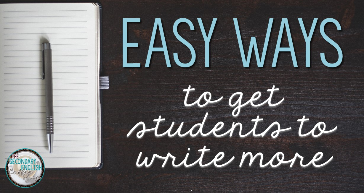 Get students to write more with these informal, low-risk writing opportunities to help develop confidence and stamina. Post by Nouvelle ELA at the Secondary English Coffee Shop blog.