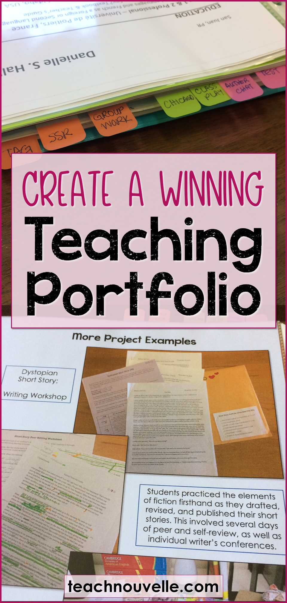 Create a Winning Teaching Portfolio pin