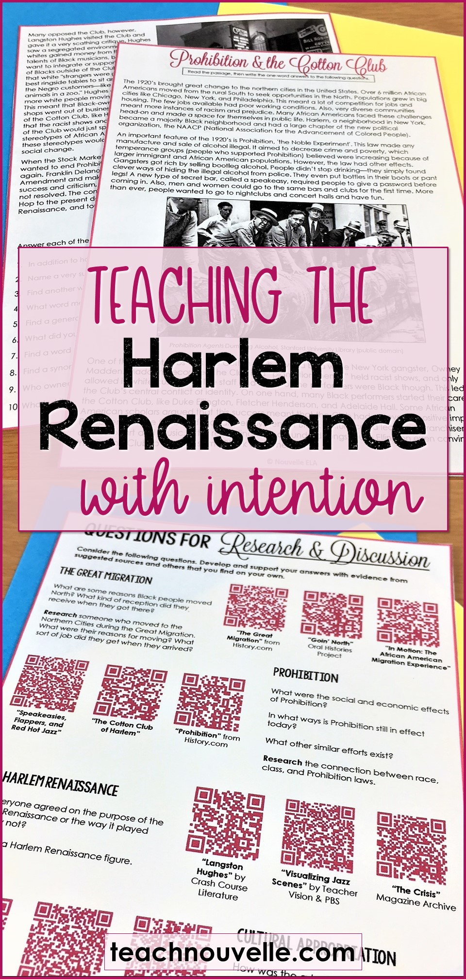 Teaching the Harlem Renaissance with Intention pin