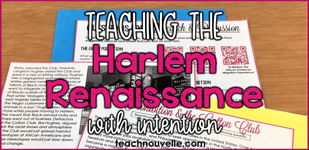 Teaching the Harlem Renaissance with Intention Blog Post Cover