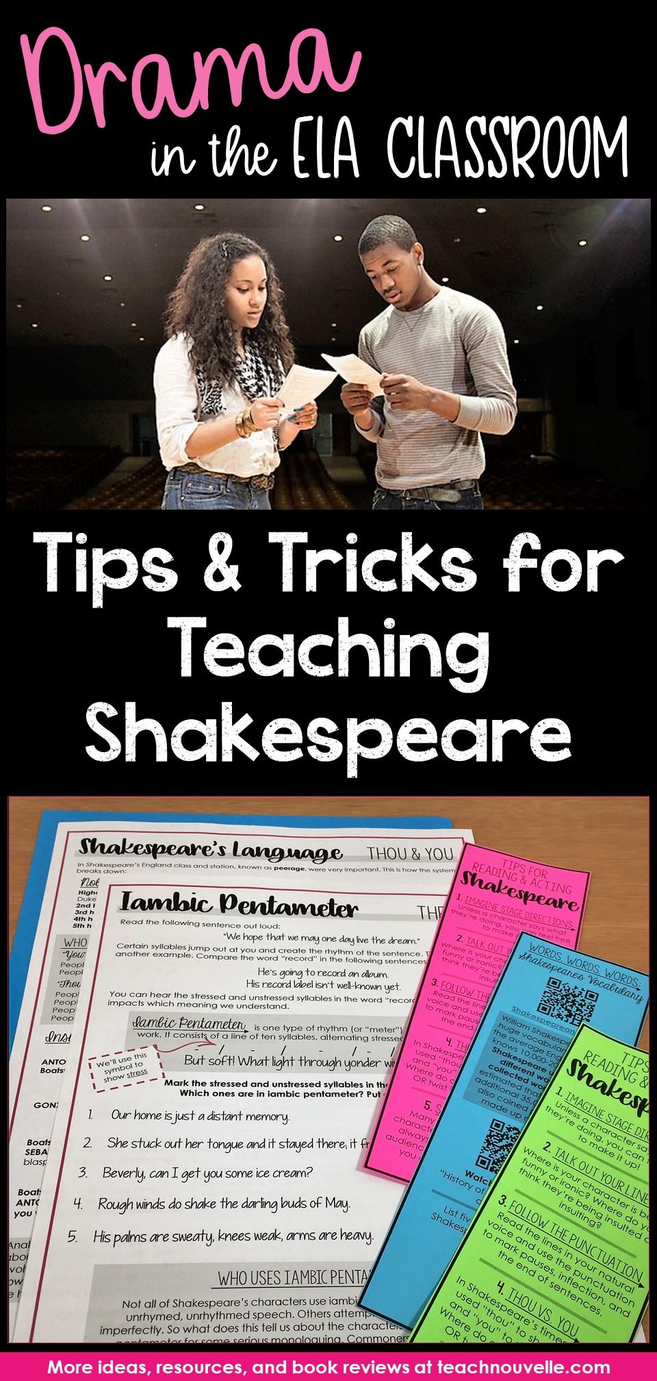 Tips for Teaching Shakespeare pin
