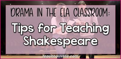Tips for Teaching Shakespeare Cover