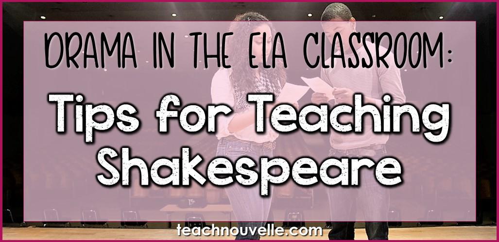 Tips for Teaching Shakespeare Cover