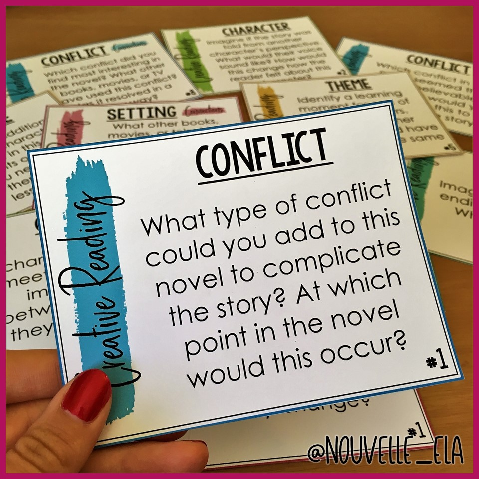 Conflict Creative Reading card