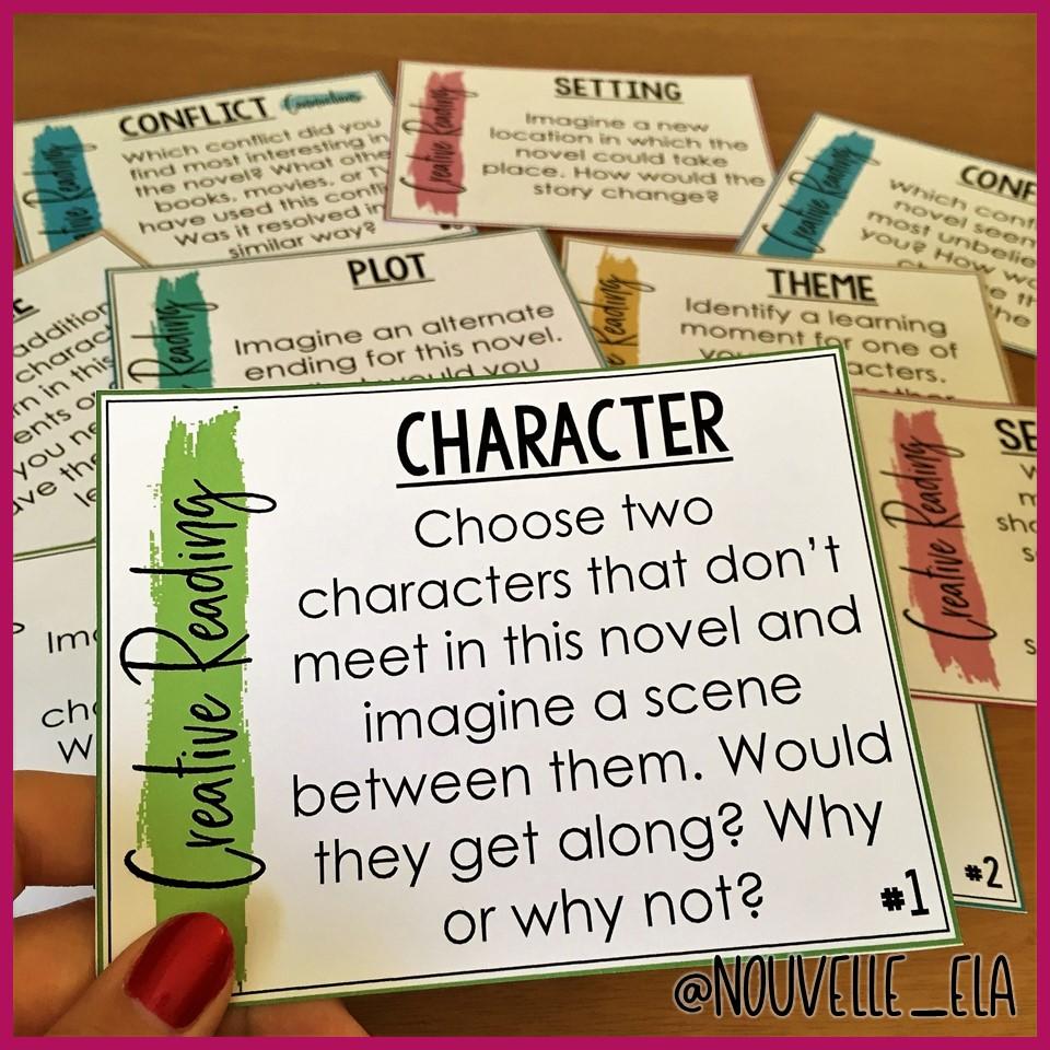 Character Creative Reading Card