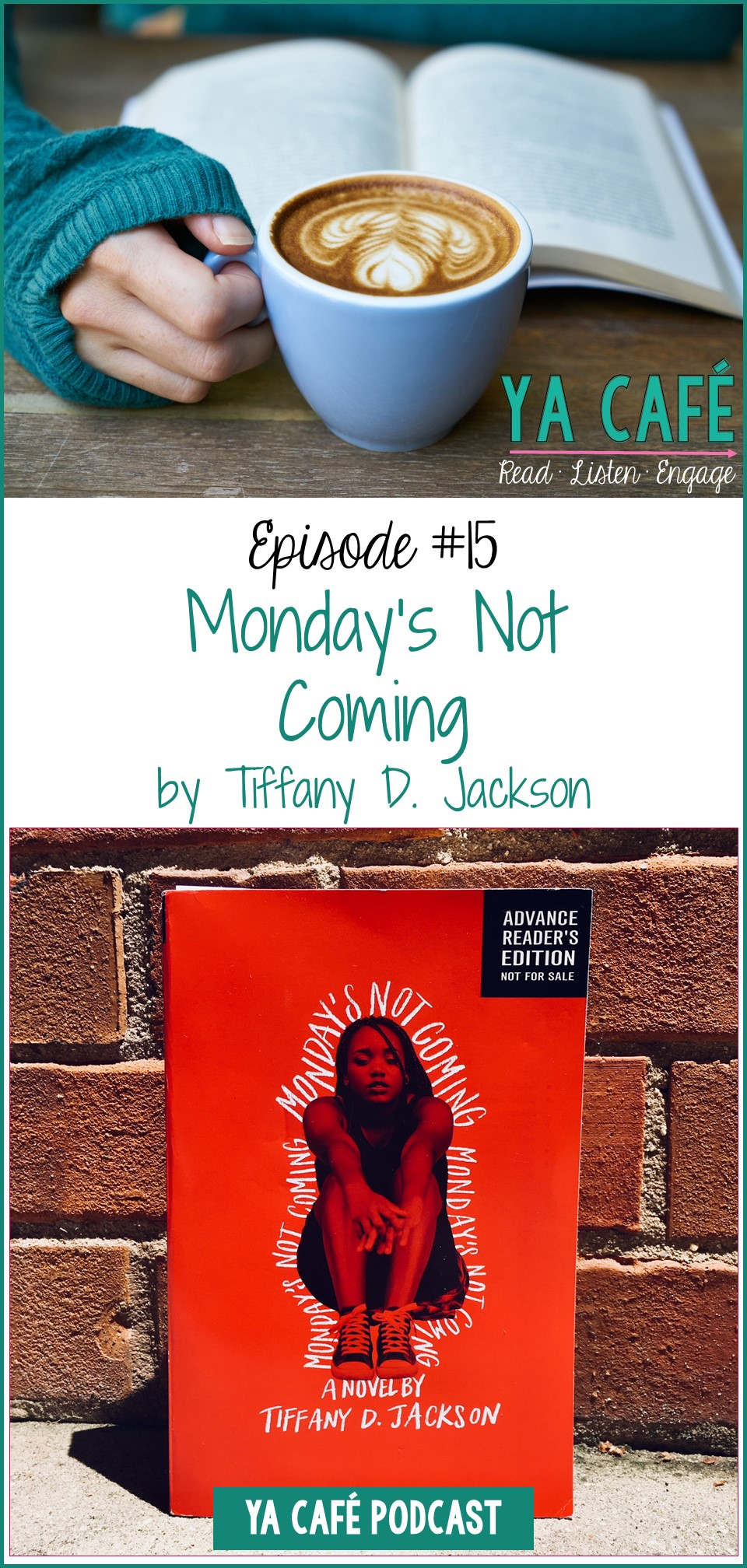 15 Mondays Not Coming Tiffany D Jackson pin