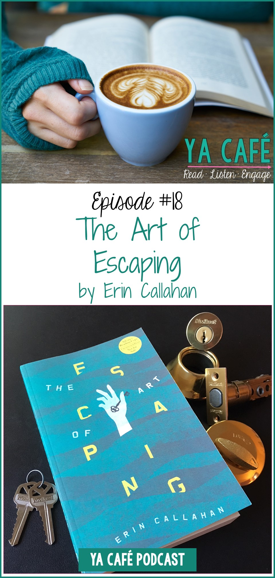 The Art of Escaping by Erin Callahan pin