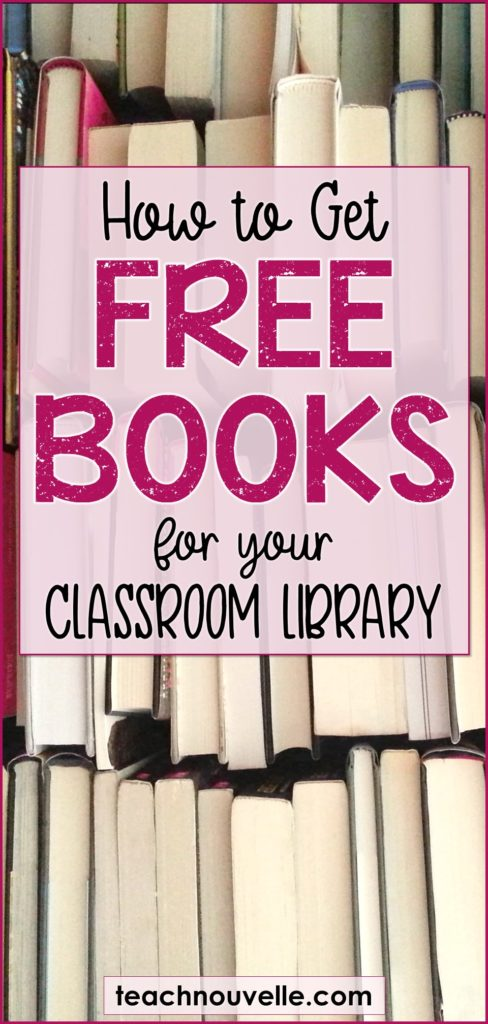 Get Free Books for your Classroom Library pin