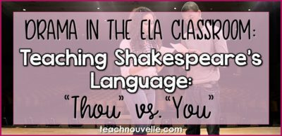 Teaching Shakespeares Language cover