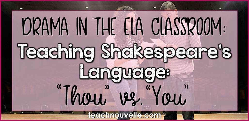 Teaching Shakespeares Language cover