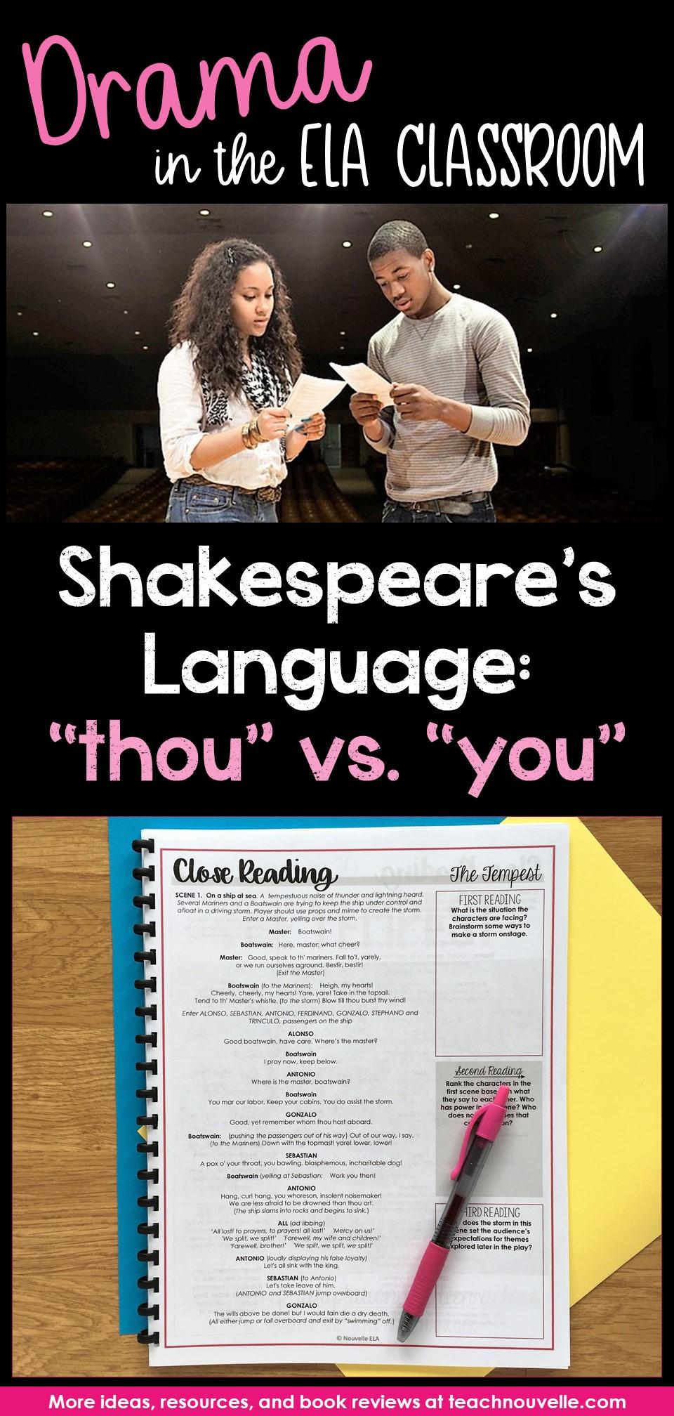Teaching Shakespeares Language pin