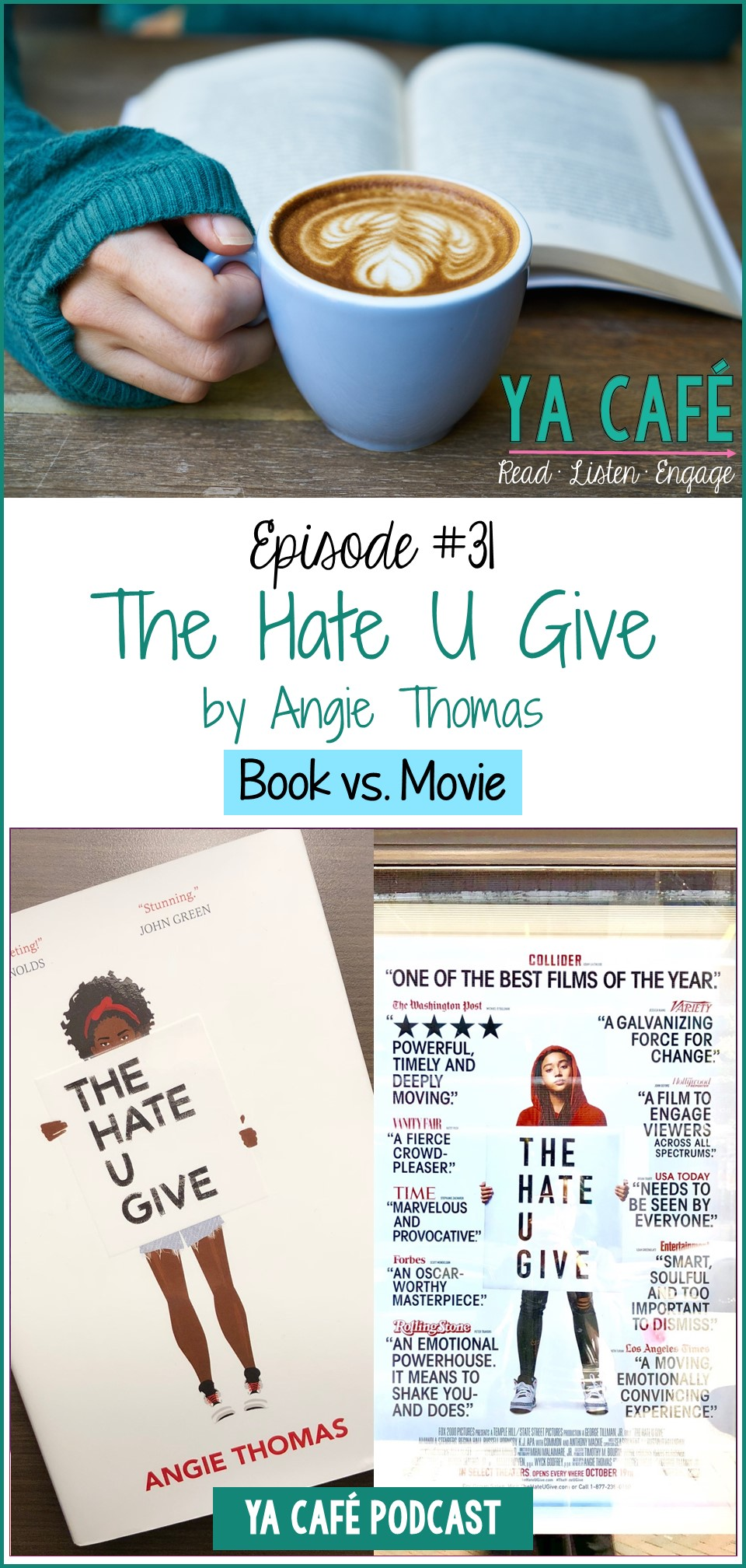 31 The Hate U Give Angie Thomas Book vs Movie pin