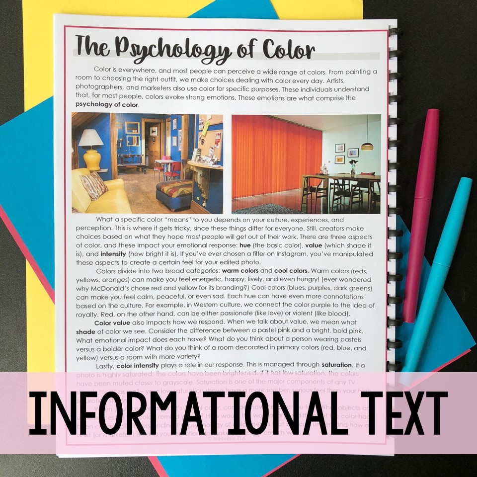 Teaching Photo Analysis informational text