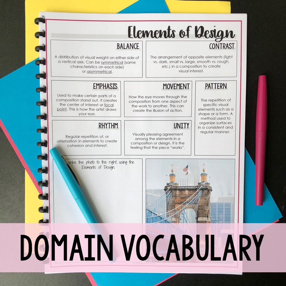 Teaching Photo Analysis domain vocabulary