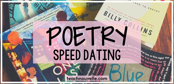 Poetry Speed-Dating   Nouvelle ELA Teaching Resources