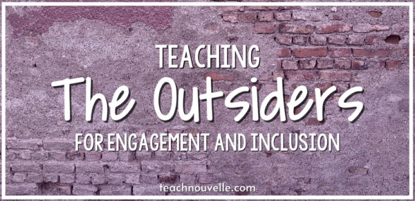 """The text """"Teaching The Outsiders For Engagement & Inclusion"""" overlayed on a brick wall."""