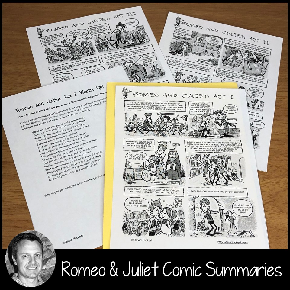 Comic Summaries - Teaching Shakespeare with David Rickert