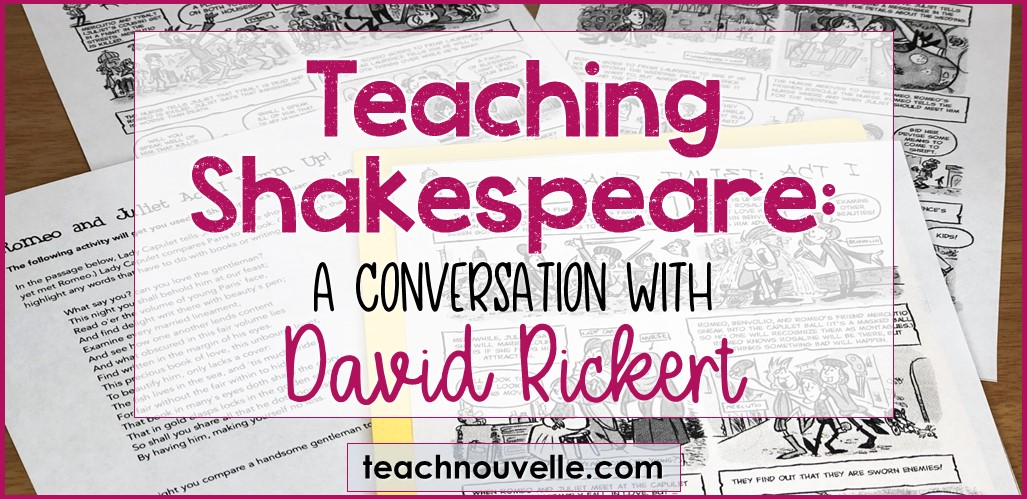 Teaching Shakespeare with David Rickert cover