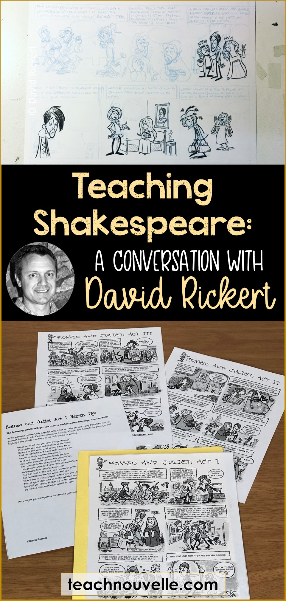 Teaching Shakespeare with David Rickert pin