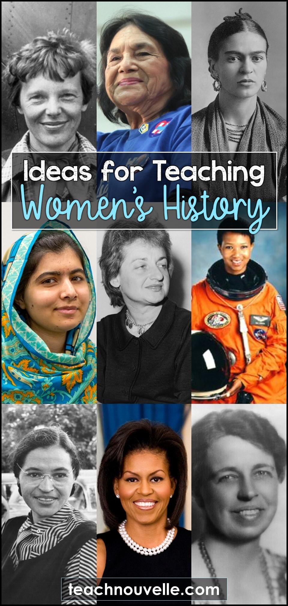 Teaching Women's History pin