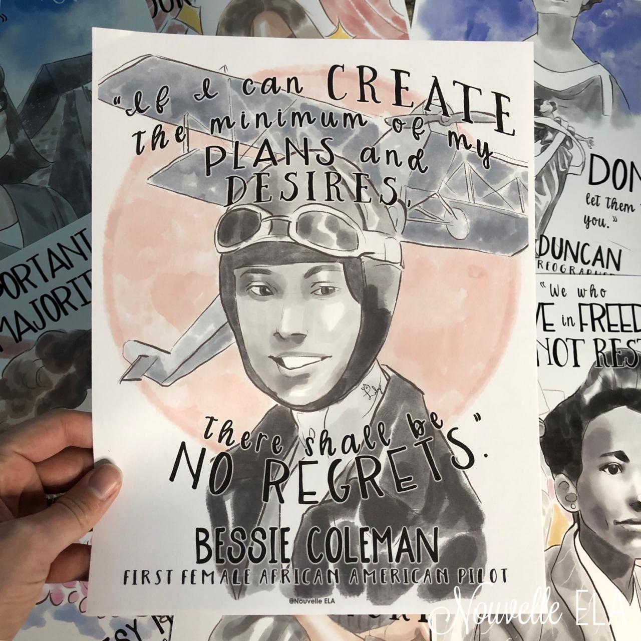 Women's History Poster - Bessie Coleman