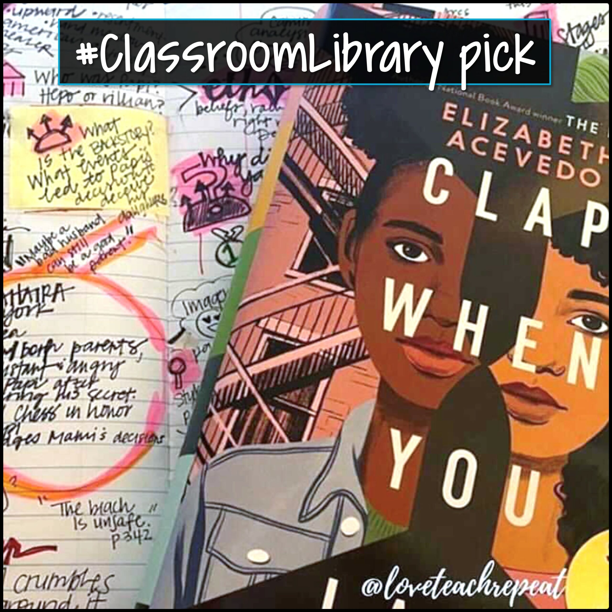 Clap When You Land by Elizabeth Acevedo square image - classroom library pick