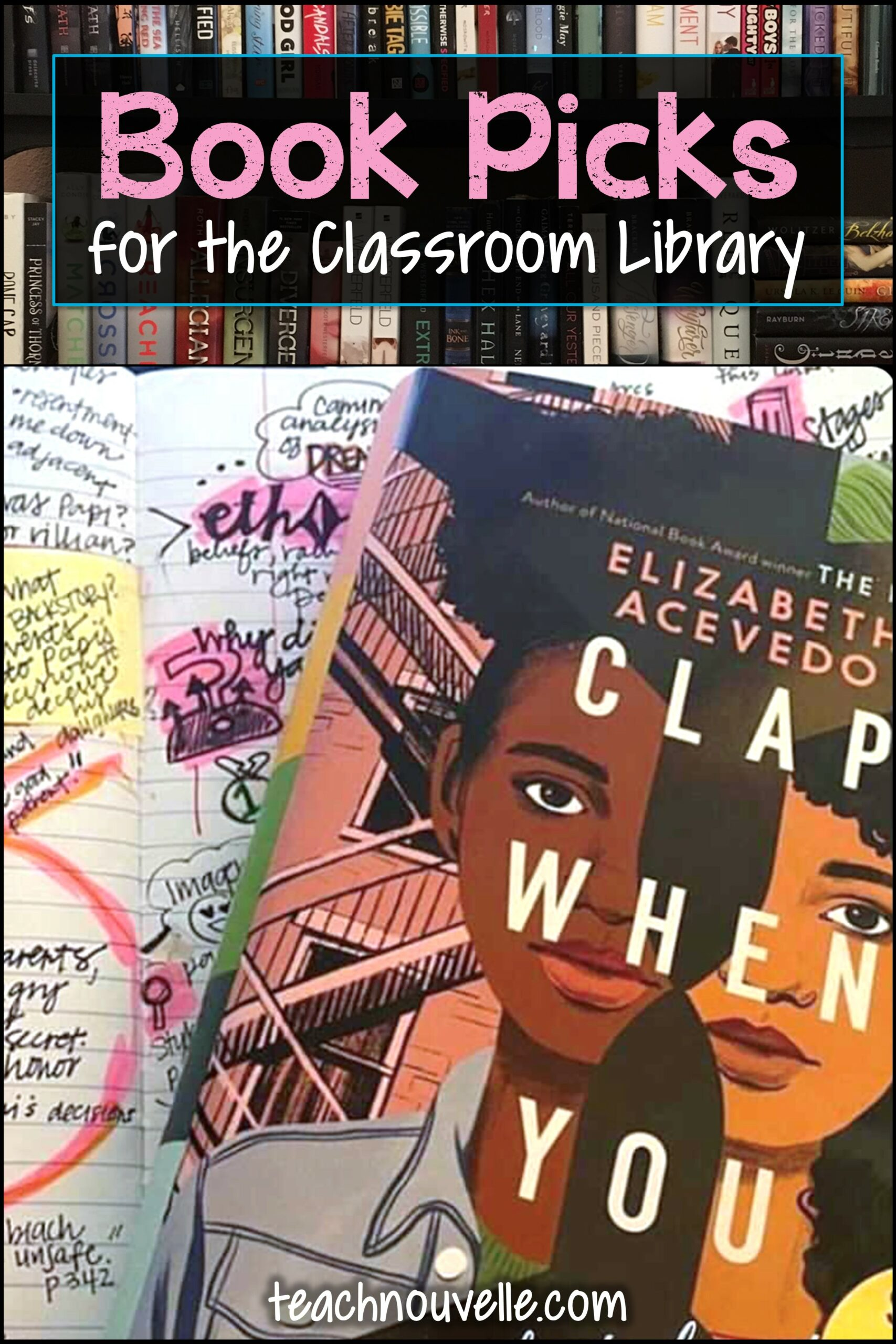 Clap When You Land by Elizabeth Acevedo is a great choice for your high school classroom library! Check out this blog post for teaching ideas and text pairing suggestions.